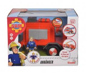Simba Feuerwehrmann Sam Anhänger mit Figur und Zubehör