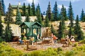 H0-Grillplatz mit Hütte